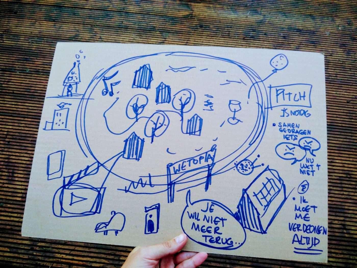 Annabel beloofde 8 utopias te tekenen